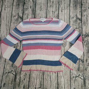 Vintage Jessica Sport Striped Longsleeve Sweater M